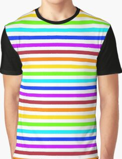 Rainbow Pattern Stripes Graphic T-Shirt