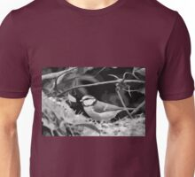 "Birds story, "" fawn paint Picasso ! "" 17(n&b) (t) the Blue Tit - Olao-Olavia by Okaio Créations  Unisex T-Shirt"