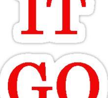 LET IT GO! Sticker