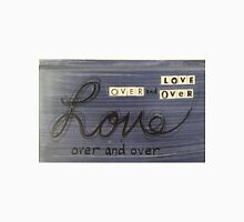 Love over and over Women's Fitted V-Neck T-Shirt
