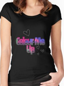 Colour Me Up Women's Fitted Scoop T-Shirt