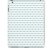 OFF LIMITS Tiffany Aqua Blue Barbed Wire Wedding Gift iPad Case/Skin