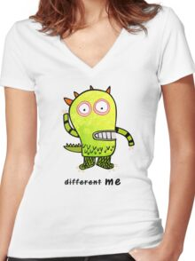 NOT DIFFERENT, ME Women's Fitted V-Neck T-Shirt