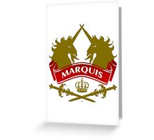 The Marquis Coat-of-Arms      Greeting Card