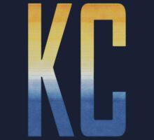 KC monogram Gold/Blue Baby Tee