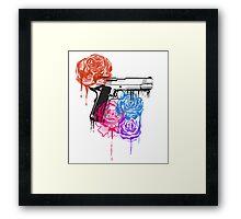 Roses and Guns Framed Print