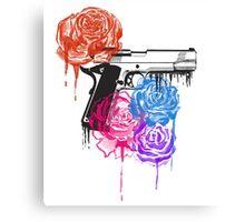 Roses and Guns Canvas Print