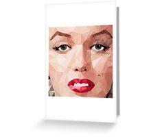 Marilyn Monroe Polyart 2 Greeting Card