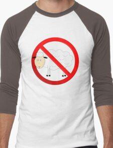 Sheep Not Allowed Sign Men's Baseball ¾ T-Shirt