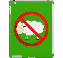 Sheep Not Allowed Sign iPad Case/Skin