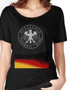 Germany Football logo UEFA euro 2016  Women's Relaxed Fit T-Shirt