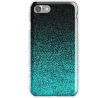 Aqua & Black Glitter Gradient iPhone Case/Skin
