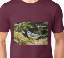 "Birds story, "" fawn paint Picasso ! "" 17(c) (t) the Blue Tit - Olao-Olavia by Okaio Créations  Unisex T-Shirt"