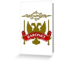 The Baronet Coat-of-Arms Greeting Card