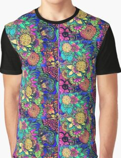 Psychedelic Zentangle Garden Graphic T-Shirt