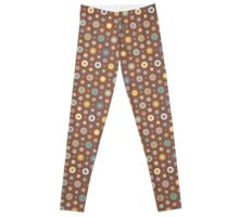 Candy Circles On Chocolate Leggings