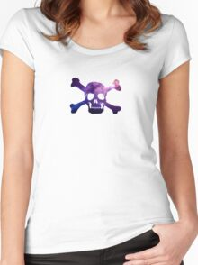Space Pirate of the Purple/Blue Galaxy Women's Fitted Scoop T-Shirt