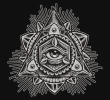 Sacred Trinity Eye BW Baby Tee