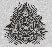 Sacred Trinity Eye BW Kids Tee