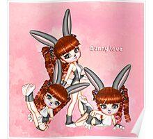 Bunny Love Triplets Poster