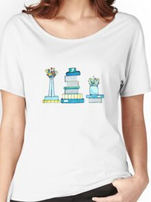Tulips & Books Women's Relaxed Fit T-Shirt