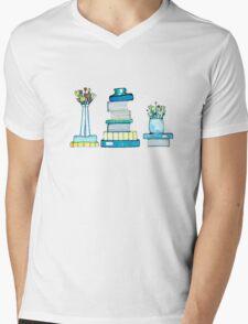 Tulips & Books Mens V-Neck T-Shirt