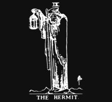 Tarot - The Hermit - Black Kids Tee