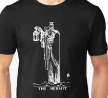 Tarot - The Hermit - Black Unisex T-Shirt