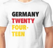 Team Germany for the World Cup 2014 Unisex T-Shirt