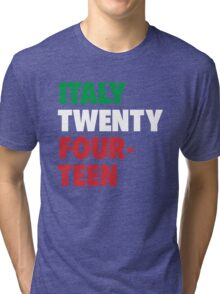 Team Italy for the World Cup 2014 Tri-blend T-Shirt