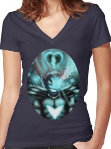 Undyne The Undying  Women's Fitted V-Neck T-Shirt