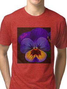 Viola Blue Tri-blend T-Shirt