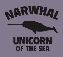 Narwhal Unicorn Of The Sea Kids Tee