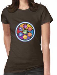 Chakra Circle Womens Fitted T-Shirt
