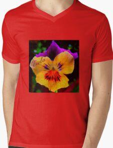 Viola Yellow Mens V-Neck T-Shirt
