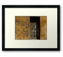 Weathered Doorway Framed Print