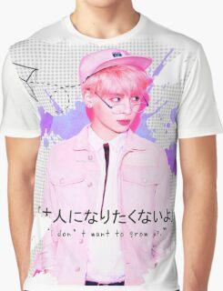 SHINee Jonghyun - Pink Design Graphic T-Shirt
