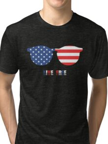 Live Free, USA Independence Day 4th Of July T-Shirt Tri-blend T-Shirt