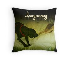 "hooyoosay ""Who's been sleeping here"" Throw Pillow"