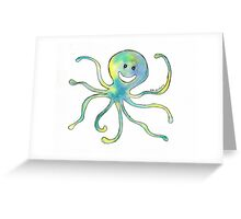 Watery Octopus Greeting Card