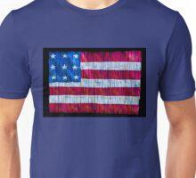 Rustic American Flag Unisex T-Shirt