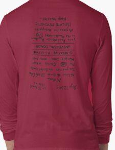 Mad Max: Fury Road - Back TATTOO (Upside Down) Long Sleeve T-Shirt