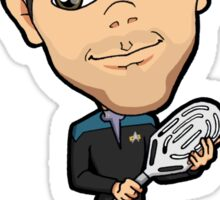 Star Trek DS9 - Doctor Dr. Julian Bashir with Tennis Racket Chibi Sticker Sticker