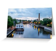Reflections in Smooth Water on the Erie Canal Greeting Card