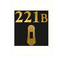 "Sherlock Holmes ""221B"" Art Print"