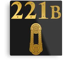 "Sherlock Holmes ""221B"" Metal Print"