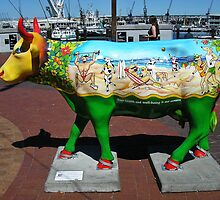 Painted Cow at the Cape Town Waterfront by Lee Jones