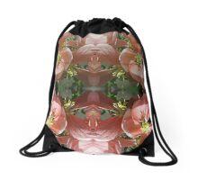 Cherry tree pink blossom  Drawstring Bag