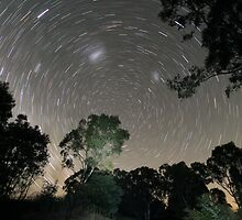 Small creek startrail by RobbieAlex