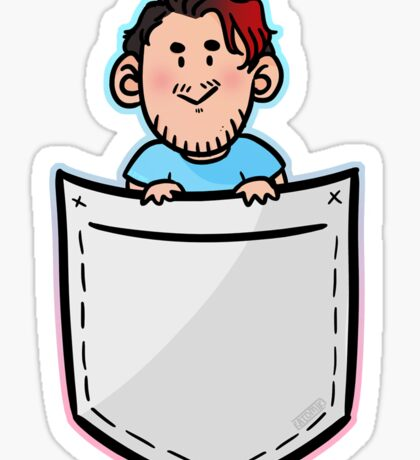 Mork in a Pocket Sticker